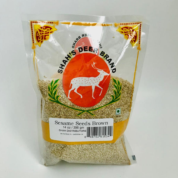 Shah's Deer Brand Sesame Seeds Brown 398gm/14oz
