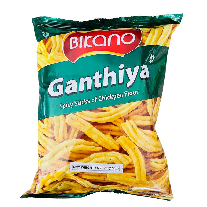 Bikano Ganthiya/Spicy Sticks of Chickpea Flour - 150g