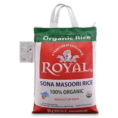 Royal Organic Sona Masoori Rice 20lbs