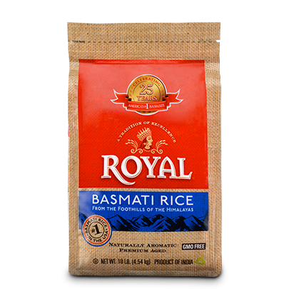 Royal Basmati White Rice 20lbs