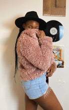 Load image into Gallery viewer, Party Fiesta Pink Fluffy Jacket Sherpa Mauve