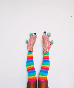 Rainbow Cruiser Thigh High Multicolored Socks