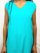 Load image into Gallery viewer, Green Blue Sleeveless Long Tunic Top