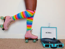 Load image into Gallery viewer, Rainbow Cruiser Thigh High Multicolored Socks