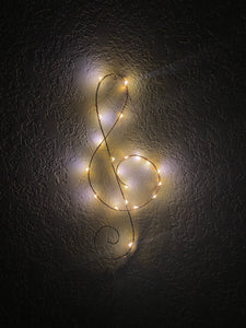 Treble Clef Light Sculpture