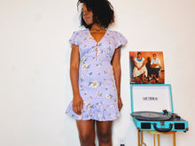 Load image into Gallery viewer, Ella Lavender Floral Print Mini Dress