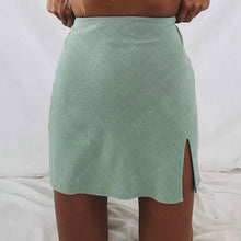 Load image into Gallery viewer, A Line Mini High Waist Skirt with Slit- She's Got Moxy