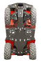 Honda Rubicon IRS 500 / 520 / Rancher IRS 420 - Skid plate full set (plastic)