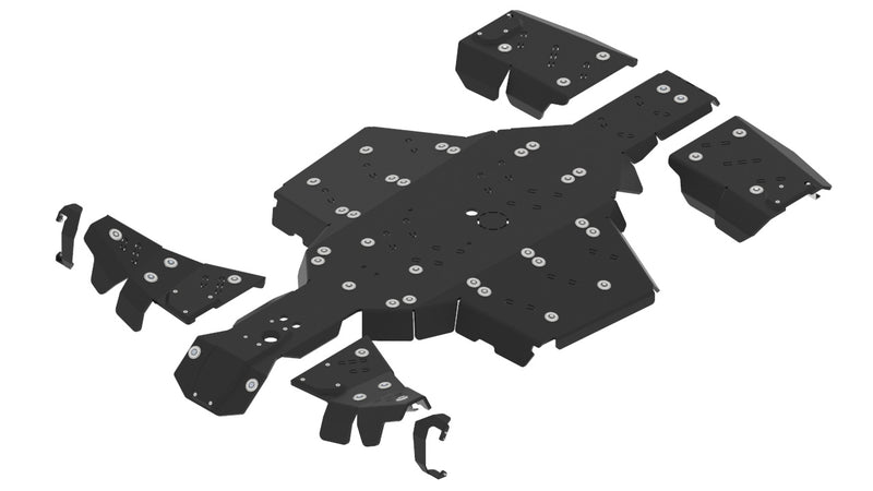 Polaris Scrambler XP 1000 S - Skid plate full set (plastic)
