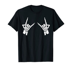 Skeleton Metal Hands T-Shirt Gothic Goth