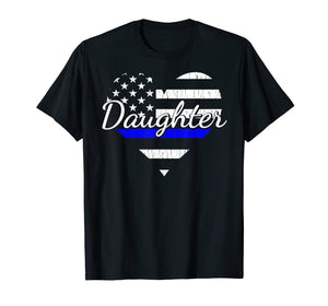 Funny shirts V-neck Tank top Hoodie sweatshirt usa uk au ca gifts for Police Daughter Life Heart Shirt. The Thin Blue Line Family. 1280594