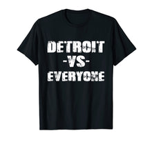 Charger l'image dans la galerie, Funny shirts V-neck Tank top Hoodie sweatshirt usa uk au ca gifts for Detroit vs Everyone Vintage Distressed 2018 T-Shirt 2097367