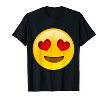 Charger l'image dans la galerie, Funny shirts V-neck Tank top Hoodie sweatshirt usa uk au ca gifts for Emoji Smiling Face With Heart-Shaped Eyes Cute Funny Texting 1332139