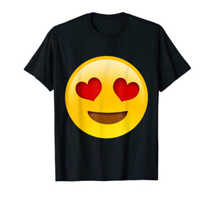 Funny shirts V-neck Tank top Hoodie sweatshirt usa uk au ca gifts for Emoji Smiling Face With Heart-Shaped Eyes Cute Funny Texting 1332139