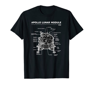 Funny shirts V-neck Tank top Hoodie sweatshirt usa uk au ca gifts for Lunar Module First Moon Landing 1969 T Shirt 1665713