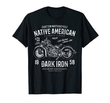 Charger l'image dans la galerie, Funny shirts V-neck Tank top Hoodie sweatshirt usa uk au ca gifts for Retro  Vintage Native American Distressed Motorcycle Design 2243654