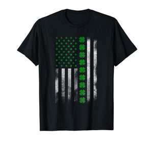 St. Patrick's Day IRISH AMERICAN FLAG T-SHIRT