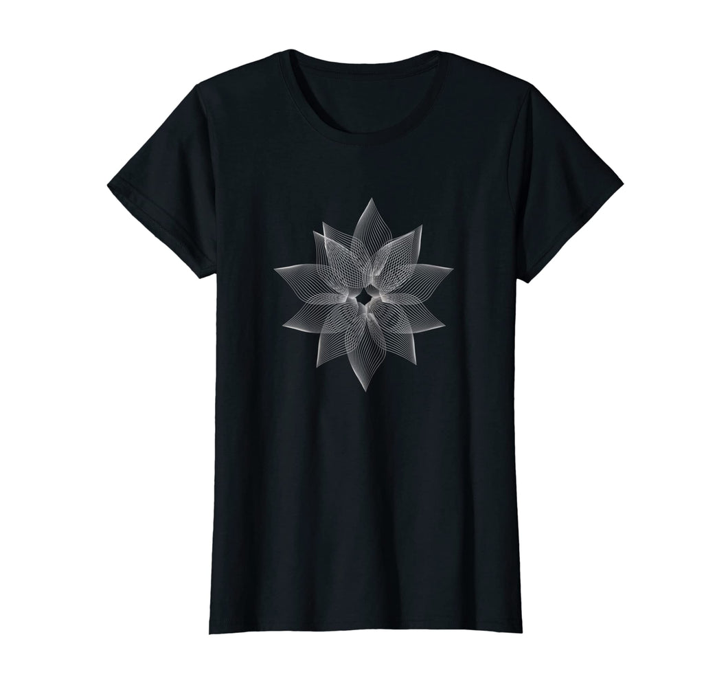 Funny shirts V-neck Tank top Hoodie sweatshirt usa uk au ca gifts for Fractal Art Geometry Moire style Sacred Lotus Flower t-shirt 2108374