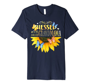 Funny shirts V-neck Tank top Hoodie sweatshirt usa uk au ca gifts for Blessed To Be Called Grandmama -Sunflower tee 1534928