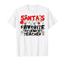 Charger l'image dans la galerie, Santa's Favorite Science Teacher Christmas T-Shirt