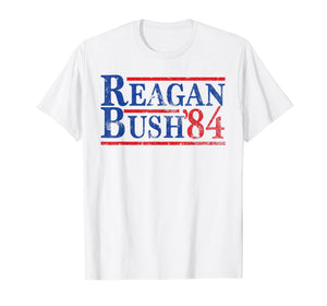 Reagan Bush 84 T-shirt Ronald Reagan for President 1984