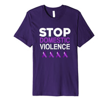 Charger l'image dans la galerie, Funny shirts V-neck Tank top Hoodie sweatshirt usa uk au ca gifts for Purple Ribbon Shirt, Stop Domestic Violence T Shirts 2660572
