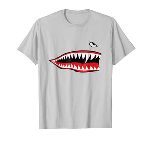 Funny shirts V-neck Tank top Hoodie sweatshirt usa uk au ca gifts for WWII P-40 Warhawk Flying Tiger Fighter Shark Nose T-Shirt 243907