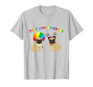 Funny shirts V-neck Tank top Hoodie sweatshirt usa uk au ca gifts for Pugs Love Everyone Gay Pride Tee 2253573