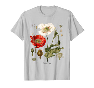 Funny shirts V-neck Tank top Hoodie sweatshirt usa uk au ca gifts for Red Poppy Botanical T-Shirt 1061469