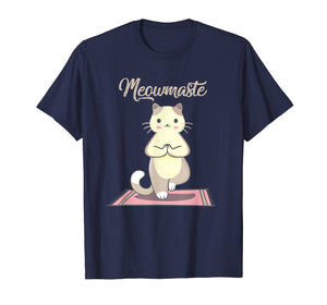 Funny shirts V-neck Tank top Hoodie sweatshirt usa uk au ca gifts for Yoga Cat Meowmaste Namaste T-shirt 1502762