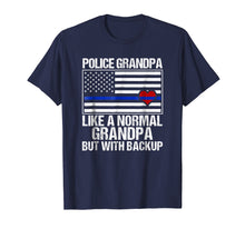 Charger l'image dans la galerie, Funny shirts V-neck Tank top Hoodie sweatshirt usa uk au ca gifts for Mens Police Grandpa Shirt Blue Line Flag Heart 2333979