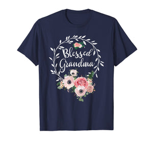 Funny shirts V-neck Tank top Hoodie sweatshirt usa uk au ca gifts for Blessed Grandma T-Shirt with floral, heart Mother's Day Gift 247813