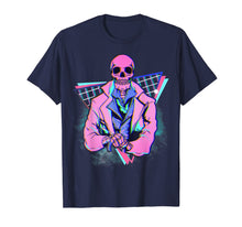 Charger l'image dans la galerie, Spooky pink skeleton in a suit Steampunk design 4 Halloween T-Shirt