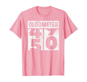 Oldometer Odometer Funny 50th Birthday Gift 50 yrs Old Joke T-Shirt