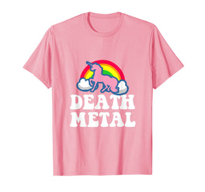 Funny shirts V-neck Tank top Hoodie sweatshirt usa uk au ca gifts for Heavy Metal Tee - Unicorn Rainbow Clouds Death Metal T-Shirt 2388532