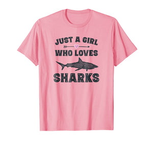 Funny shirts V-neck Tank top Hoodie sweatshirt usa uk au ca gifts for Funny Shark Shirt Gifts for Teen Girls Cute Sharks T-Shirt 3028479