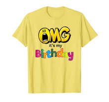 Charger l'image dans la galerie, OMG Its My Birthday Emoji Shirt For Kids Women and Men