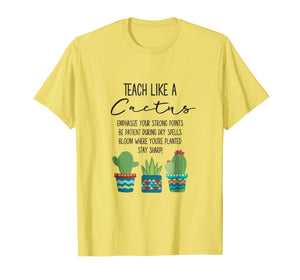 Funny shirts V-neck Tank top Hoodie sweatshirt usa uk au ca gifts for Teach Like A Cactus Teacher Back To School T Shirt 1490610
