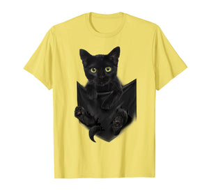 Funny shirts V-neck Tank top Hoodie sweatshirt usa uk au ca gifts for Black Cat Stern in Pocket T-Shirt Cats Tee Shirt Gifts 1217717