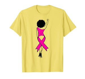 Survivor breast cancer strong Women African American Africa  T-Shirt