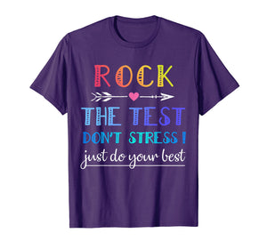 Rock The Test T-Shirt Funny School Professor Teacher Joke