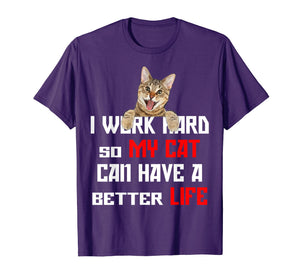 Funny shirts V-neck Tank top Hoodie sweatshirt usa uk au ca gifts for I work hard so my cat can have a better life Shirt 2309211