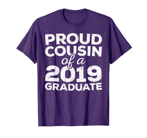 Funny shirts V-neck Tank top Hoodie sweatshirt usa uk au ca gifts for Proud Cousin Of A 2019 Graduate T-Shirt Class Graduation 145726