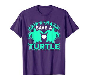 Funny shirts V-neck Tank top Hoodie sweatshirt usa uk au ca gifts for Skip A Straw Save A Turtle Graphic Turquoise T-Shirt 2669683