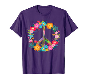 Peace Love T-Shirt Hippie Costume Tie Die 60s 70s