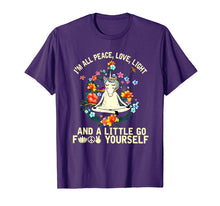 Charger l'image dans la galerie, Funny shirts V-neck Tank top Hoodie sweatshirt usa uk au ca gifts for Unicorn Yoga I'm All Peace Love Light F+-ck Yourself T Shirt 2011135