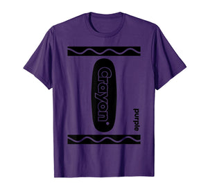 Purple Crayon Box Halloween Costume Matching Couple Group T-Shirt
