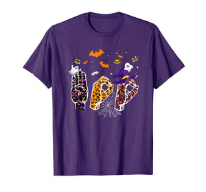 Pride ASL Boo Halloween costume tee, funny Sign Language T-Shirt