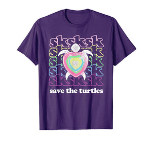 SKSKSK and I Oop... Save The Turtles Basic Girl T-Shirt