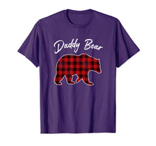 Charger l'image dans la galerie, Red Plaid Daddy Bear Buffalo Matching Family Pajama T-Shirt